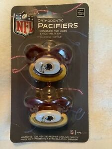 NFL WASHINGTON REDSKINS 2-PACK BABY ORTHODONTIC PACIFIER SET Collector's Item