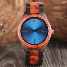 Creative Nature Wood Bamboo Women Men Analog Quartz Wrist Watch Bangle Gift