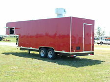 2018 8 x 28  Gooseneck Mobile Kitchen Concession Trailer