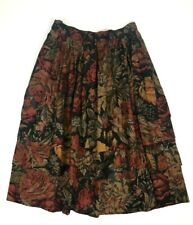 Guy Laroche Sportwear Skirt Size 44 France US 12, Vintage Midi Skirt Floral