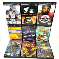 Lot of 9 PlayStation 2 PS2 Video Games: Socum, SpyHunter, Fight Night 04, MAGIX