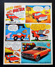 Vtg 1969 Plymouth Duster car comic advertisement print ad art