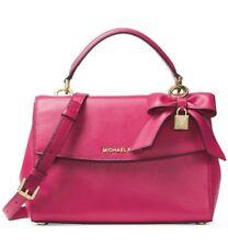 Michael Kors NWT $298 Ultra Pink Ava Small Top Handle Leather Satchel Hand Bag