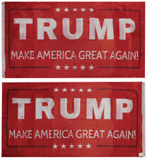 Trump Make America Great Again! Red Double Sided 3x5 3'x5' Rough Tex 68D Flag