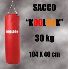 SACCO BOXE PIENO  /PUGILATO 30 KG ROSSO ULTRA RESISTENTE BY KOOLOOK SPED. GRATIS