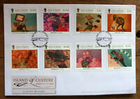 2014 ISLE OF MAN ISLAND OF CULTURE SET OF 8 STAMPS FIRST DAY COVER