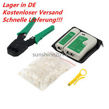 Netzwerk Werkzeuge Kit Kabeltester Crimpzange Rj45 Kabelschneider