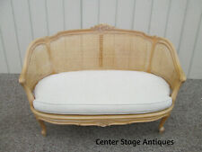 58799 French Caned Loveseat Sofa Couch Quality Accent Chair