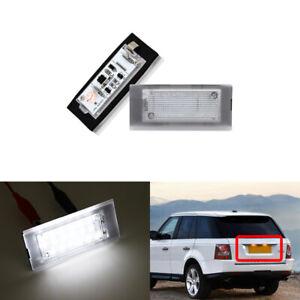 For Land Rover Range Rover 2003-2012 White Led Number License Plate Light Lamp