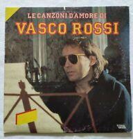 VASCO ROSSI LP LE CANZONI D'AMORE DI VINYL 1986 ITALY TARGA ORL 8875 EX/NM
