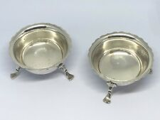 Sterling Silver 3 Footed Salts - Haseler & Bill - Chester - 1920