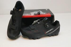 New Louis Garneau Granite II Mountain Bike Shoes 38 5 Black BOA 2-Bolt MTB