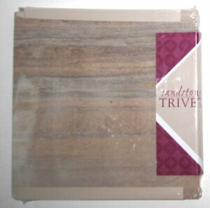 """Thirstystone Natural Sandstone Trivet - 7.75"""" Square with Cork Backing"""