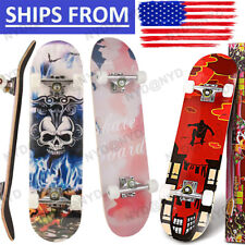"31""x8"" Wood Skateboards Complete Double Kick Deck Concave Gift for Kids Teens US"