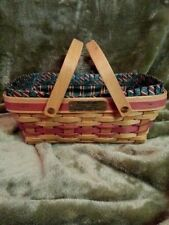 Longaberger Christmas 1996 Holiday Cheer Basket w/liner and 2 protectors