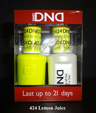 DND Daisy Lemon Juice 424 Soak Off Gel Polish .5oz LED/UV DND gel duo DND424