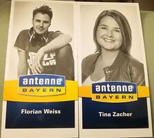 Autographe cartes antenne Bayern 2 Pièce/Tina Zacher et Florian blanc