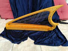 Gotische Harfe mit Tasche und Zubehör