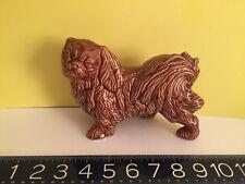 Large Vintage Porcelain/Pottery Pekingese Dog Figurine English? has hand mark 3+