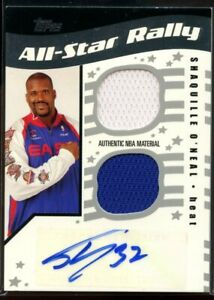 Shaquille O'Neal Auto Dual Patch /25 All Star Rally 2006 Topps Big Game Heat