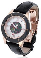 Korite Canadian Ammolite Ladies Mosaic MOP Stainless Steel Watch - Black - New