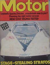 Motor 19/3/1977 featuring Lancia Stratos, Porsche 928, Colt Sigma road test
