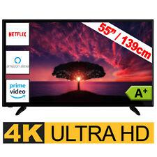 Telefunken Fernseher 55 Zoll TV Smart  4K UHD LED Triple Tuner Wlan DVB 139 cm
