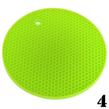 Durable Heat Resistant Silicone Table Mat Placemat Non-slip Pan Pot Holder New