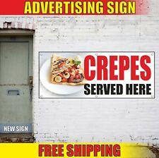 Crepes Banner Advertising Vinyl Sign Flag Bakery Cafe Breakfast Cake Served Here