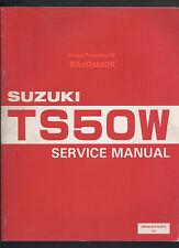 Original Suzuki TS50W (1983->) Factory Service Manual TS 50 W Liquid-Cooled AE84