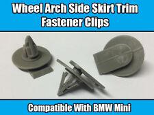 10x Clips For BMW MINI Cooper Wheel Arch Skirt Trim Fastener Grey R50 R52 R53
