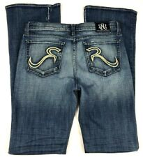 """Rock & Republic Jeans (30) Womens Nora Bootcut Mildly Distressed 34.5"""" Inseam"""