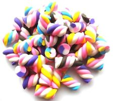 50 MIXED RANDOM MARSHMALLOW BEADS 14MM X 10MM - SAME DAY 1ST CLASS P&P