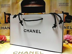 "☾1 PCS☽ CHANEL Classic Black & White Paper Gift/Shopping Bag✰☾Size:""24x7x14""CM☽✰"