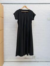 Comme des Garcons 1992 black wool gabardine short sleeve panelled dress - sz M