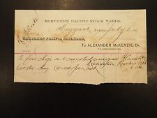 1885 Northern Pacific Stock Yards letterhead invoice