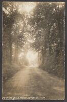 Postcard Micheldever Station nr Winchester Hampshire view of Fraton Road 1915 RP