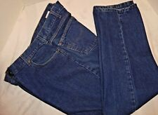 MEN'S CARHARTT BLUE JEANS 5 POCKET 42X32 B146DST