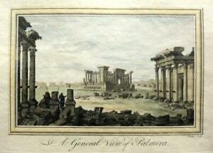 VIEW OF PALMYRA  SYRIA c1778 GENUINE ANTIQUE COPPERPLATE ENGRAVING