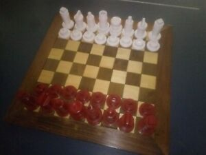 Chess Set / Pieces Custom, Handcrafted, OneOfAKind, Unique Red verses White
