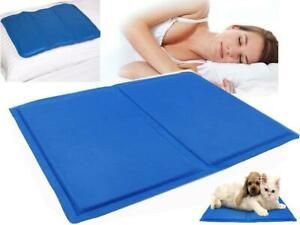 Cooling Gel Pillow Natural Chilled Comfort Sleep Aid Body Cool Pad Bed Mat