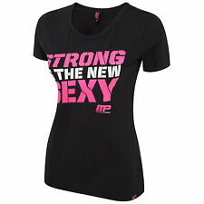 MUSCLE PHARM WOMENS SHORT SLEEVE T-SHIRTS - TOP GYM FITNESS SHIRT TRAINING LARGE