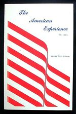 The American Experience To 1865 by James Neal Primm 1972 PBK 1st NEAR FINE