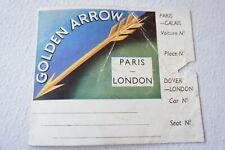 More details for golden arrow london paris original railway luggage label dover calais