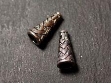 10pc - Apprêts Cônes coupelles Métal argenté Croisillons Ethnique Celtique 18mm