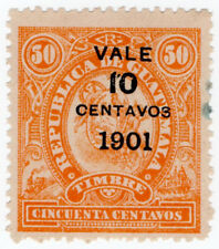 (I.B) Guatemala Revenue : Duty Stamp 10c on 50c OP