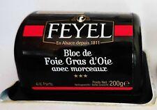 El foie gras oie foie gras Bloc Feyel 200g original de Francia!
