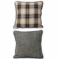 Linen Blend Checked Decorative Cushions