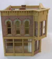 """O On3 On30 CRAFTSMAN CUSTOM BUILT"""" TWO STORY STORE W/OPERA DECK BRICK BUILDING """""""