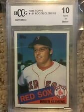 1985 Topps Roger Clemens #181 Rookie BCCG 10 C